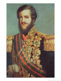 Pedro II Emperor of Brazil Premium Giclee Print by Luis De Miranda Pereira Visconde De Menezes