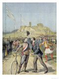 "The Olympic Games in Athens, from ""Le Petit Journal"", 26th April 1896 Giclee Print by Henri Meyer"