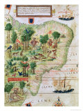"Brazil from the ""Miller Atlas"" by Pedro Reinel, circa 1519 Giclee Print"