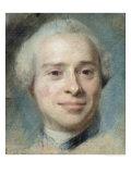 Portrait of Jean Le Rond D'Alembert 1753 Giclee Print by Maurice Quentin de La Tour