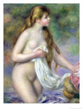 Bather with Long Hair, circa 1895 Giclee Print by Pierre-Auguste Renoir