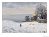 Snow at Montmartre, 1869 Giclee Print by Hippolyte Camille Delpy