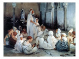 An Arab School in Tlemcen Giclee Print by Jules Jean Geoffroy