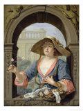 Portrait of the Mistress of the Artist M.C. Cremers Giclee Print by Jacques Ignatius De Roore