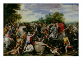 The Victory of Tullus Hostilius Over the Forces of Veii and Fidenae Giclee Print by Guiseppe Cesari