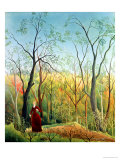 The Walk in the Forest, 1886-90 Giclée-tryk af Henri Rousseau