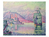 Antibes, Evening, 1914 Gicléetryck av Paul Signac