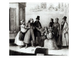 "Performance of ""Le Pere Goriot"" by Honore Balzac at the Theatre des Varietes, circa 1840 Giclee Print by Frederic Bouchot"