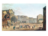 View of Saint-Germain-L'Auxerrois, circa 1802 Giclee Print by Thomas Naudet