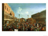 Charlatans in the Piazzetta San Marco, Venice Giclee Print by Gabriele Bella