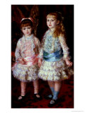 Pink and Blue Or, the Cahen D'Anvers Girls, 1881 Giclée-tryk af Pierre-Auguste Renoir