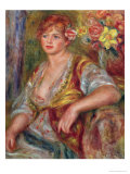 Blonde Woman with a Rose, circa 1915 Giclee Print by Pierre-Auguste Renoir