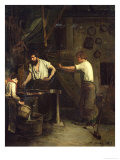 The Blacksmiths, Memory of Treport, 1857 Giclee Print by Francois Bonvin