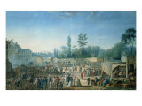 View of the Tuileries from the Place de La Revolution, 1799 Giclee Print by Thomas Naudet