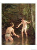 Bathing Boys, 1873 Giclee Print by Pierre Edouard Frere