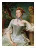 Jeanne Antoinette Poisson Marquise de Pompadour Giclee Print by Francois Hubert Drouais