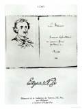 "Title Page of ""Les Poemes"" by Edgar Allan Poe with a Portrait of the Author, 1888 Giclee Print"