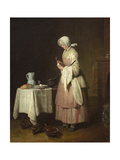 The Attentive Nurse, circa 1738 Giclee Print by Jean-Baptiste Simeon Chardin