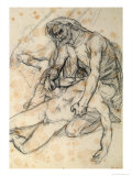 A Father Holding the Body of His Son, Study for the Raft of the Medusa Giclee-trykk av Théodore Géricault
