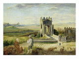 Campagna Landscape Near the Nomentano Bridge Giclee Print by Heinrich Maria Von Hess