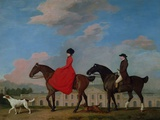 John and Sophia Musters Riding at Colwick Hall, 1777 Giclee Print by George Stubbs