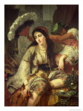 Odalisque Giclee Print by Jean Baptiste Ange Tissier