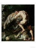 Hercules Fighting the Nemean Lion Giclee Print by Peter Paul Rubens