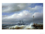 Rough Sea in Stormy Weather, 1846 Giclee Print by Paul Jean Clays