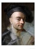 Self Portrait Premium Giclee Print by Maurice Quentin de La Tour