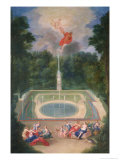The Groves of Versailles with Mars and Venus Before Apollo and Vulcan, 1688 Giclee Print by Jean Cotelle the Younger