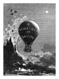 "Frontispiece to ""Five Weeks in a Balloon"" by Jules Verne Giclee Print by Édouard Riou"