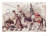 Caricature Depicting the Entry into Paris of a Part of the Allied Troops, 1814 Giclee Print