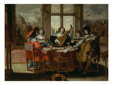 The Five Senses - Hearing Giclee Print by Abraham Bosse