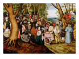 Landscape with St. John the Baptist Preaching Giclee Print by Pieter Brueghel the Younger