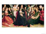 Virgin and Child with Saints, circa 1509 Giclée-Druck von Gerard David