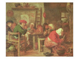 A Peasant Meal Giclee Print by Adriaen Brouwer