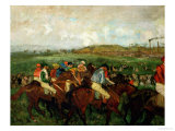 Gentlemen Race. Before the Departure, 1862 Giclee Print by Edgar Degas