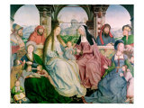 The Holy Kinship, or the Altarpiece of St. Anne, Detail of Central Panel, 1509 Giclee Print by Quentin Metsys