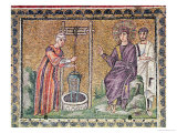The Woman of Samaria at the Well, Scenes from the Life of Christ Giclee Print