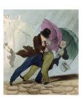 """The Umbrella Trip, from """"Flibustiers Parisiens"""" Giclee Print by  Junca"""