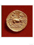Reverse of a Stater of Philip II of Macedonia Depicting a Charioteer, 356-336 BC Giclee Print