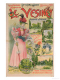 Poster for the Chemins de Fer de L'Ouest to Le Vesinet, circa 1895-1900 Giclee Print by Albert Robida