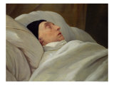 Marie Joseph Marquise de La Fayette, on His Deathbed Giclee Print by Ary Scheffer