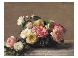 Roses in a Dish, 1882 Giclee Print by Henri Fantin-Latour
