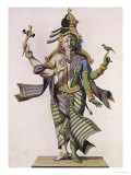 "Ardhanarishvara, from ""Voyage aux Indes et a La Chine"" by Pierre Sonnerat Giclee Print by Pierre Sonnerat"
