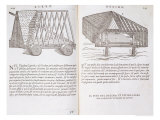 Methods of Transporting Pre-Fabricated Roofs to the Site from &quot;Della Architettura&quot;, Published 1590 Reproduction proc&#233;d&#233; gicl&#233;e par Giovanni Antonio Rusconi