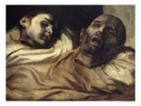 Heads of Torture Victims, Study for the Raft of the Medusa Reproduction procédé giclée par Théodore Géricault