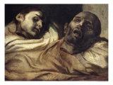 Heads of Torture Victims, Study for the Raft of the Medusa Giclée-trykk av Théodore Géricault