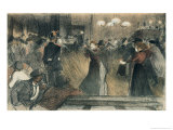 Ball at the Barriere Giclee Print by Th&#233;ophile Alexandre Steinlen