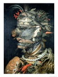 Vand Gicle-tryk af Giuseppe Arcimboldo